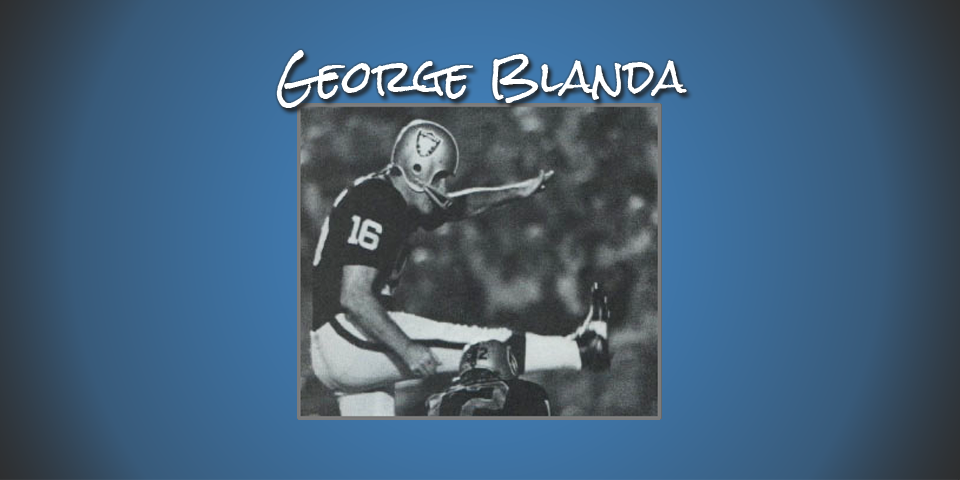 new arrival eb3c0 5e72e George Blanda | American Football Kicking Hall of Fame